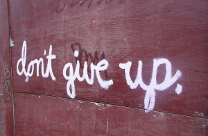 don't give up by Flickr user 4rilla
