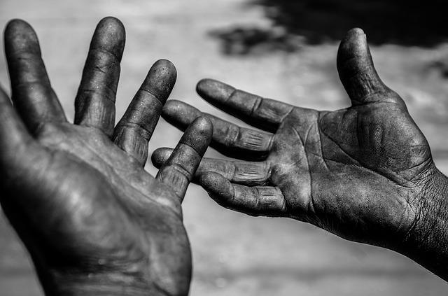worker's hands