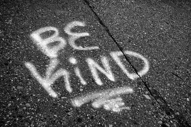 be kind graffiti by Flickr user Dave Mathis