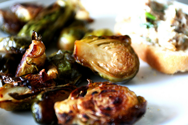 roasted brussel sprouts by Flickr user Jing