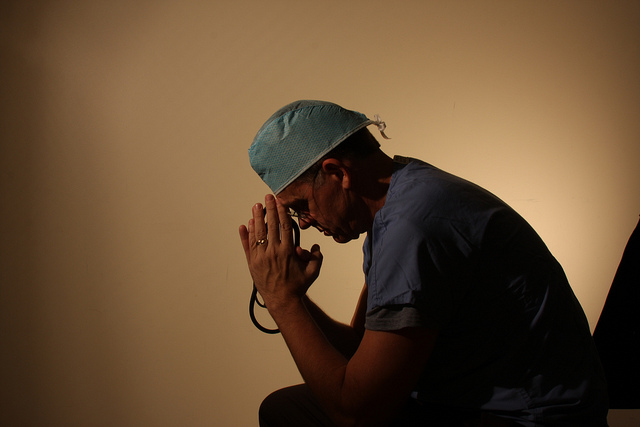 stressed doctor by Flickr user Eric