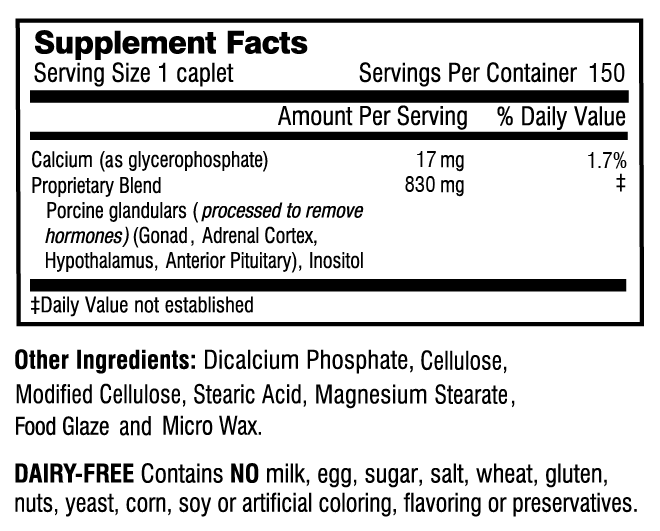 Adrenal Rebuilder supplement facts