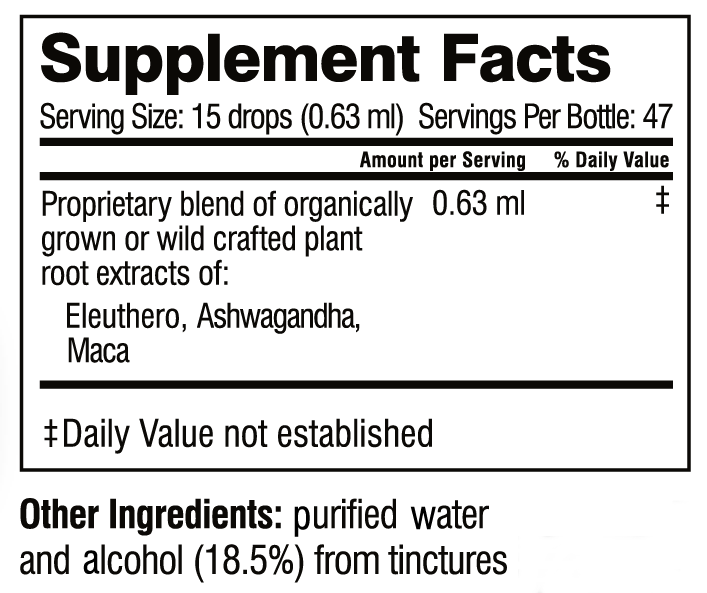 Herbal HPA supplement facts
