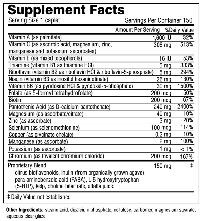 SASF150 supplement facts 2016