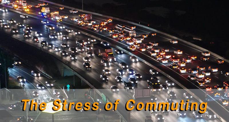Cars during traffic jam at night