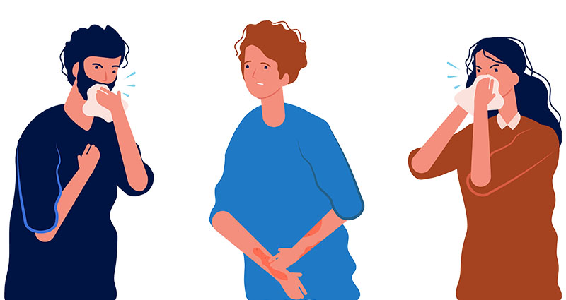 animated people with allergies